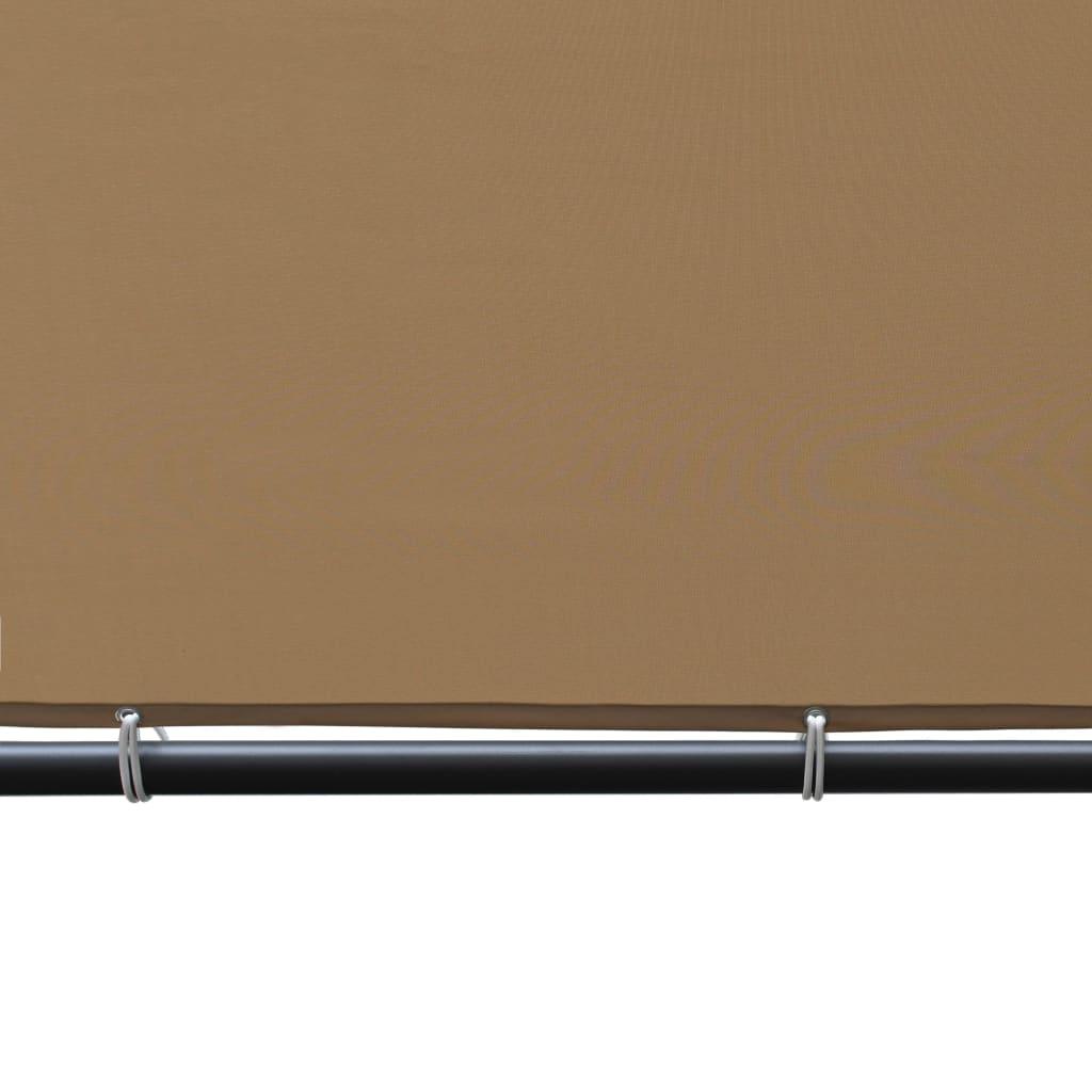 vidaXL Tuinpaviljoen met schuin dak 180 g/m² 400x400x264 m beige
