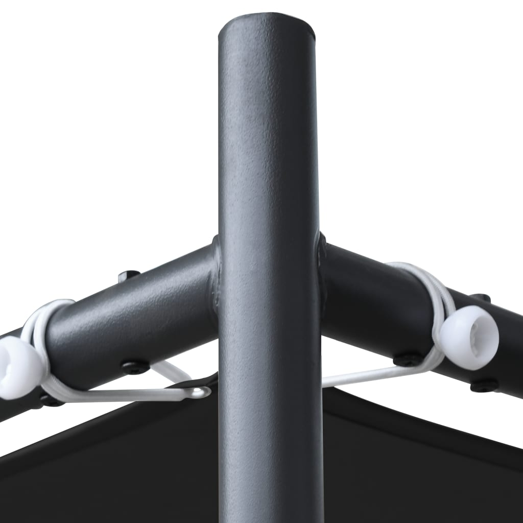 vidaXL Tuinpaviljoen met schuin dak 180 g/m² 400x400x264 m antraciet