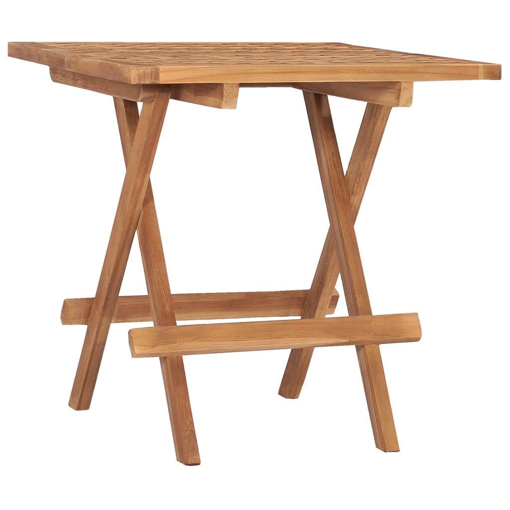 Skládací zahradní stolek 50 x 50 x 50 cm masivní teakové dřevo