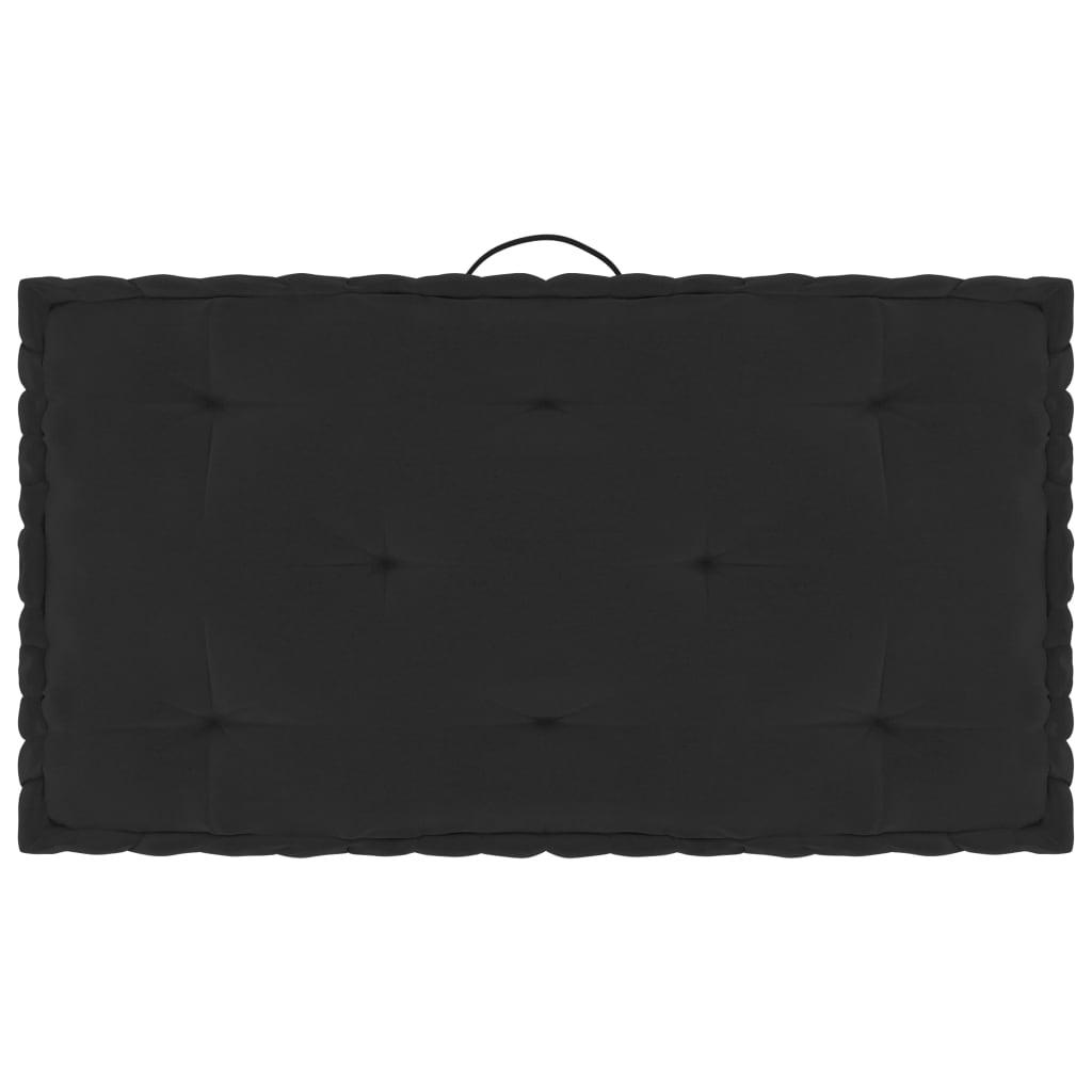 Poduška na nábytek z palet černá 73 x 40 x 7 cm bavlna