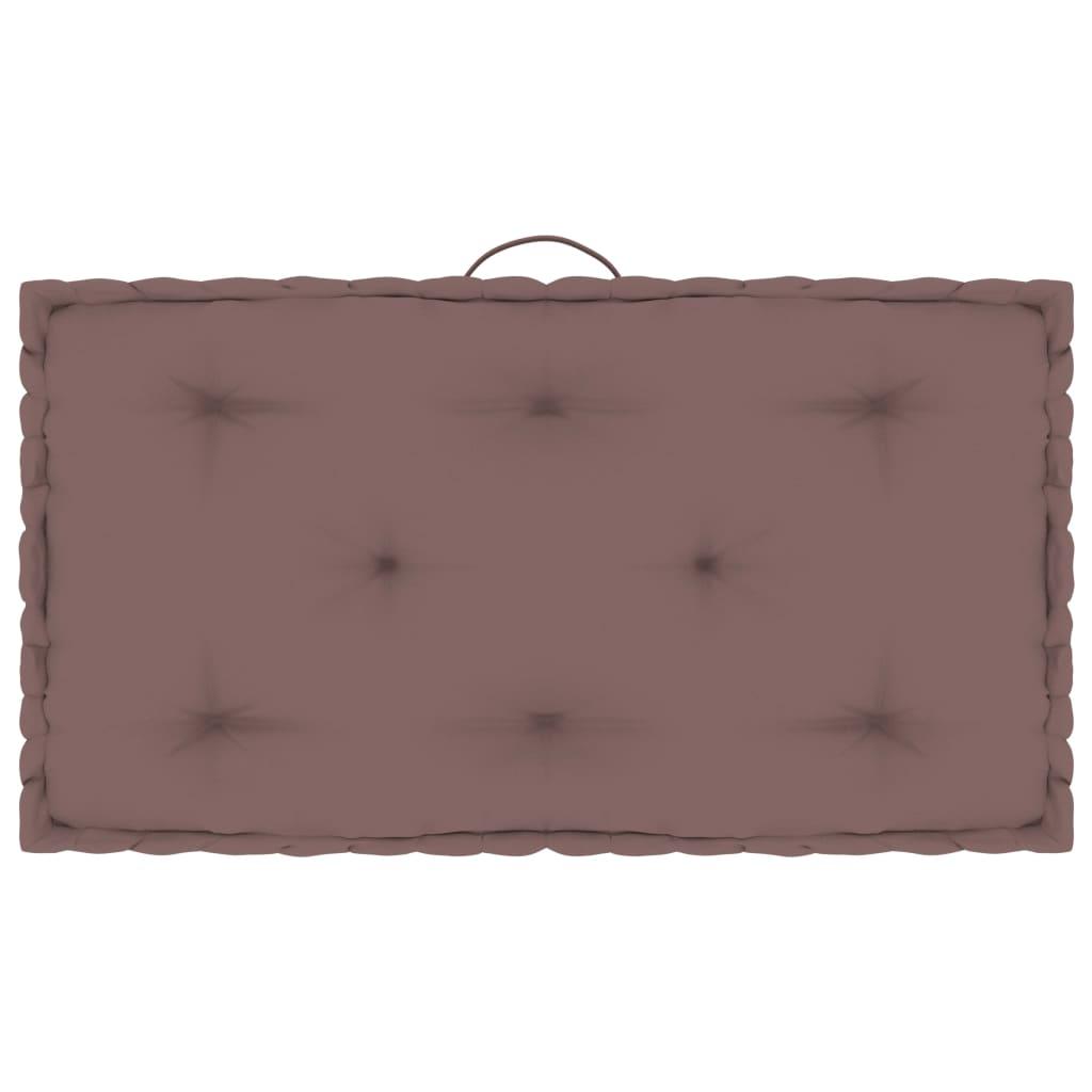 Poduška na nábytek z palet taupe 73 x 40 x 7 cm bavlna