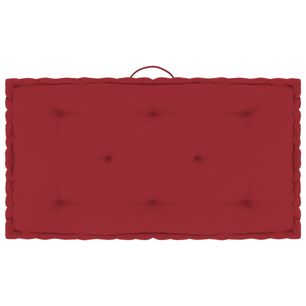 Poduška na nábytek z palet vínová 73 x 40 x 7 cm bavlna