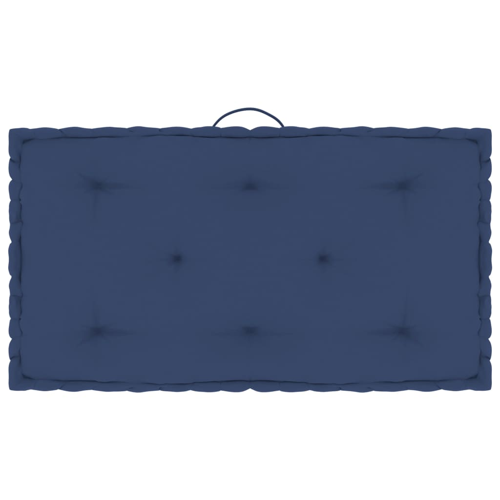 Poduška na nábytek z palet námořnická modř 73x40x7 cm bavlna