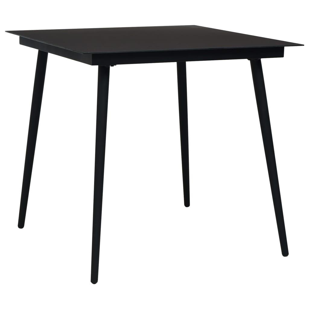 vidaXL 3-delige Tuinset katoenen touw en staal zwart