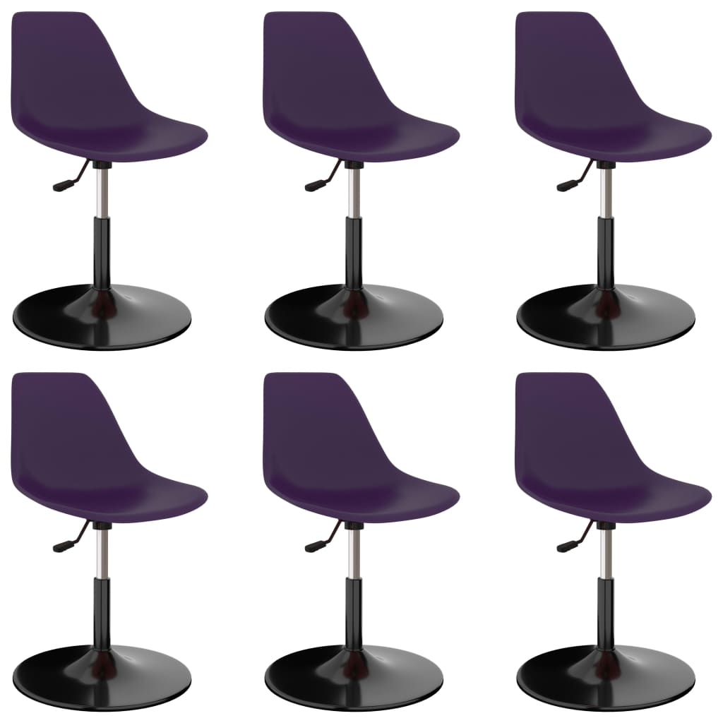 vidaXL drejelige spisebordsstole 6 stk. PP lilla