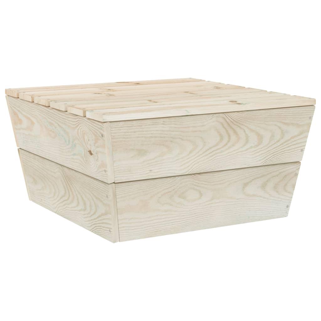 vidaXL Masă de grădină, 60 x 60 x 30 cm, lemn de molid tratat vidaxl.ro