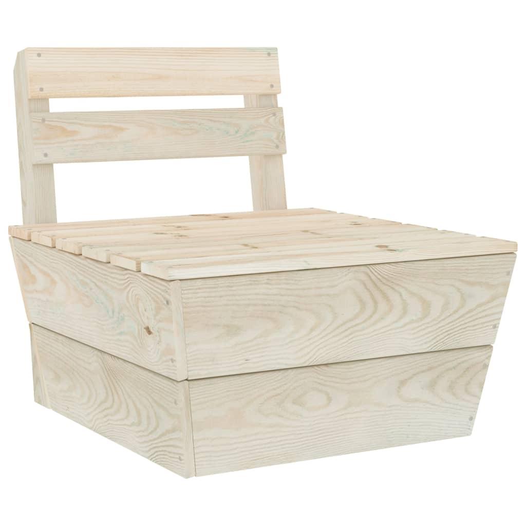 vidaXL Canapea de mijloc din paleți, modulară, lemn de molid tratat vidaxl.ro