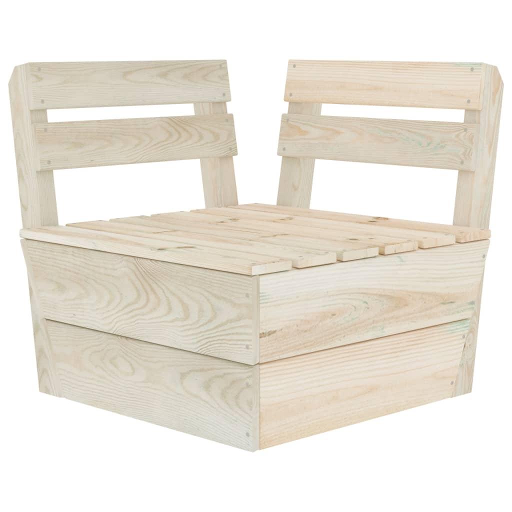 vidaXL Canapea colțar modulară din paleți, lemn de molid tratat vidaxl.ro