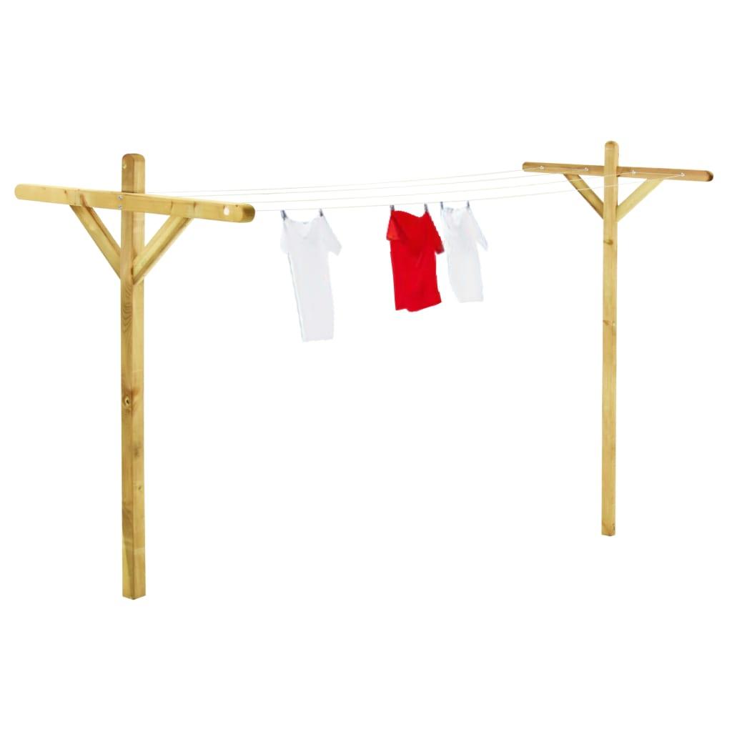 vidaXL Stojany na prádlo 2 ks 120 x 170 cm impregnované borové dřevo