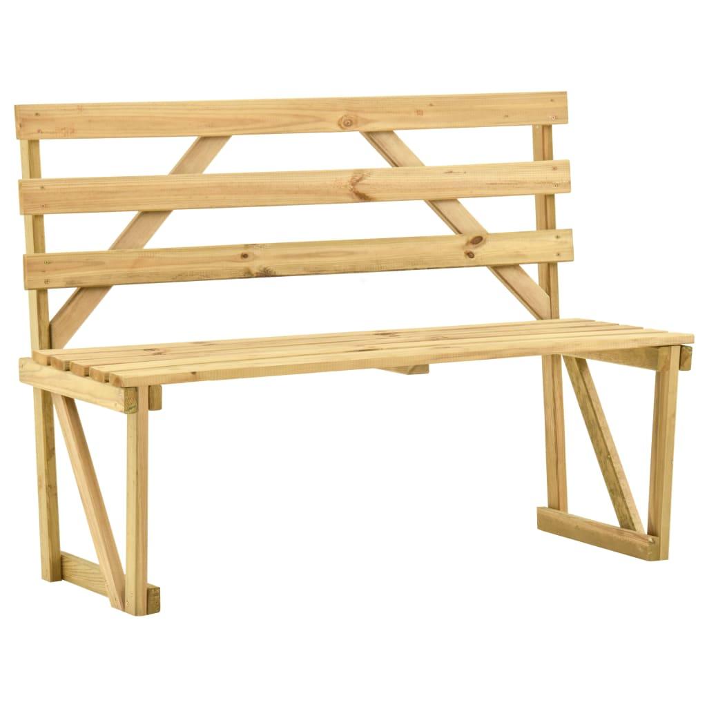 Zahradní lavice 120 cm impregnované borové dřevo