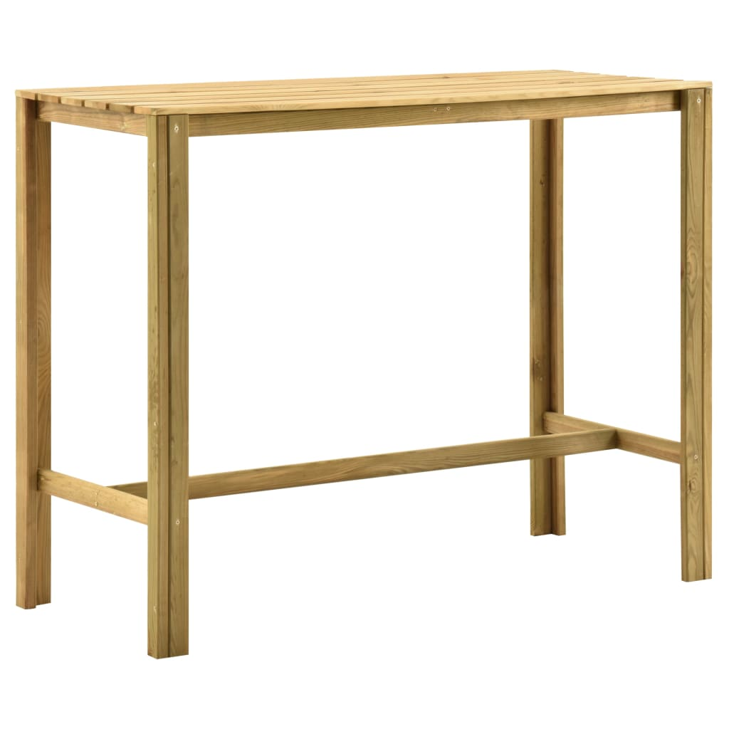 Barový stůl 140 x 60 x 110 cm impregnovaná borovice