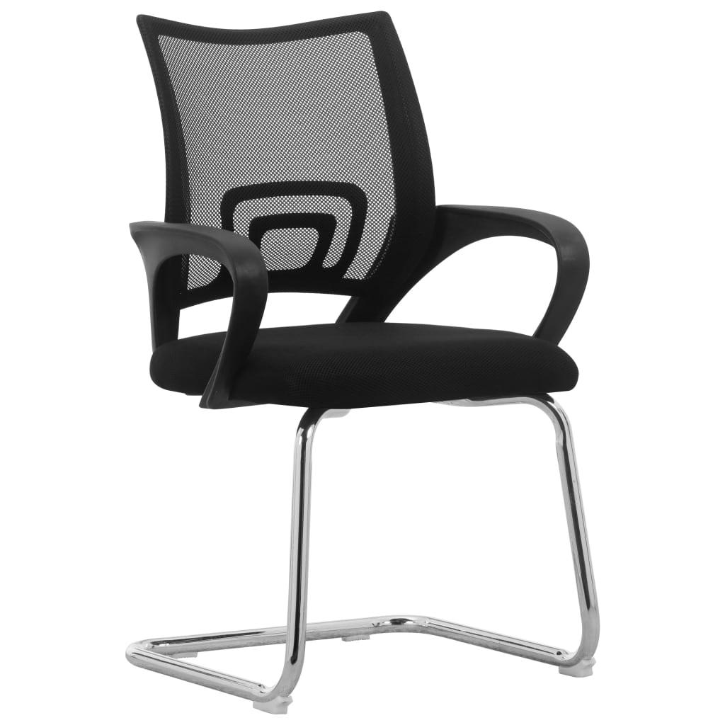 vidaXL Konzolna uredska stolica od mrežaste tkanine crna