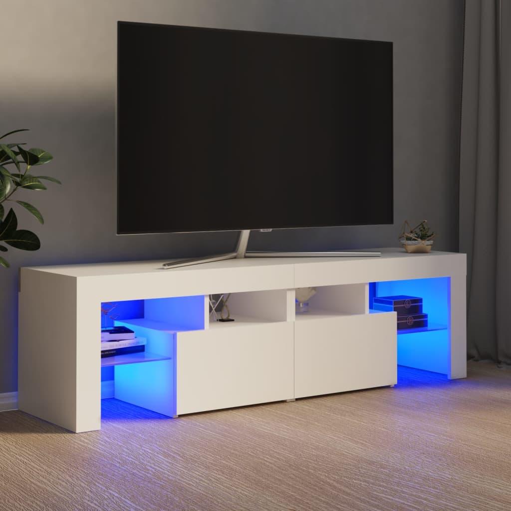 vidaXL TV ormarić s LED svjetlima bijeli 140 x 35 x 40 cm