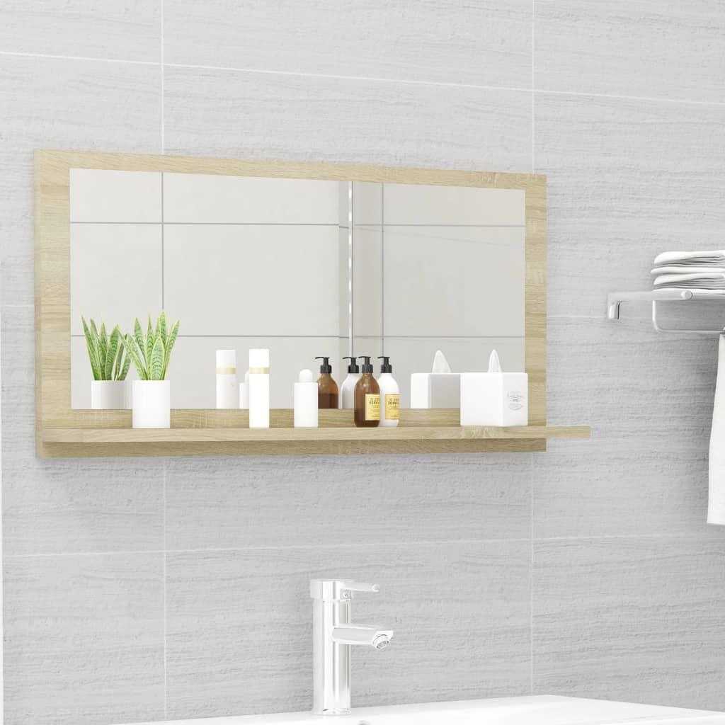 Koupelnové zrcadlo dub sonoma 80 x 10,5 x 37 cm dřevotříska