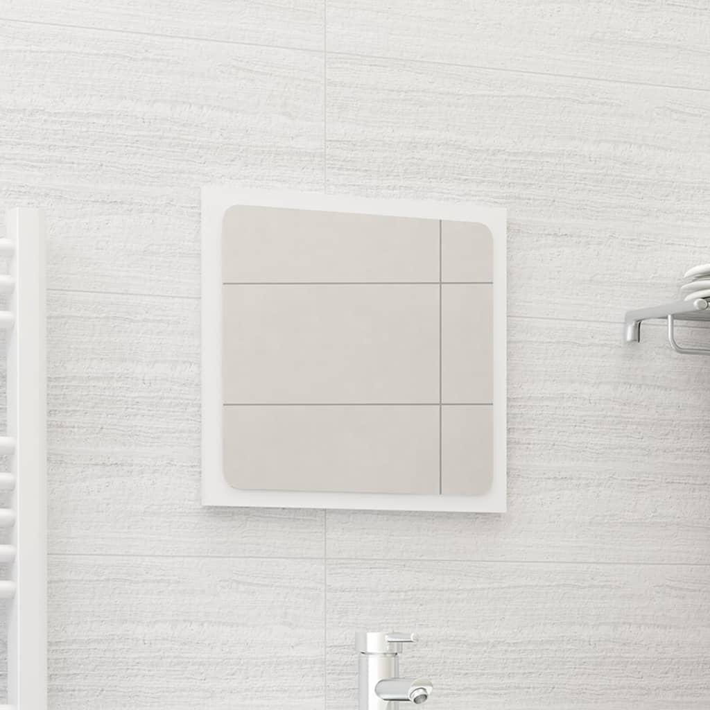 Koupelnové zrcadlo bílé 40 x 1,5 x 37 cm dřevotříska