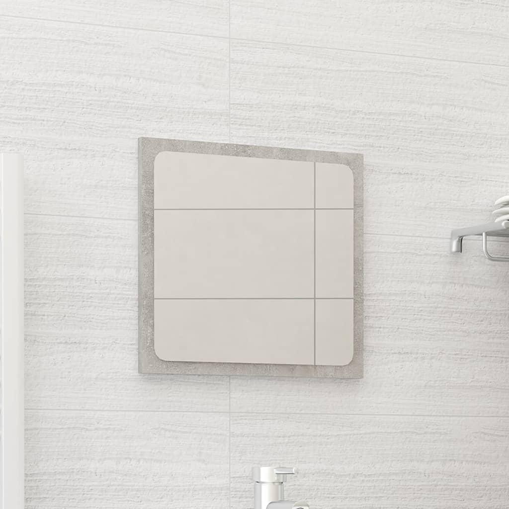 Koupelnové zrcadlo betonově šedé 40 x 1,5 x 37 cm dřevotříska