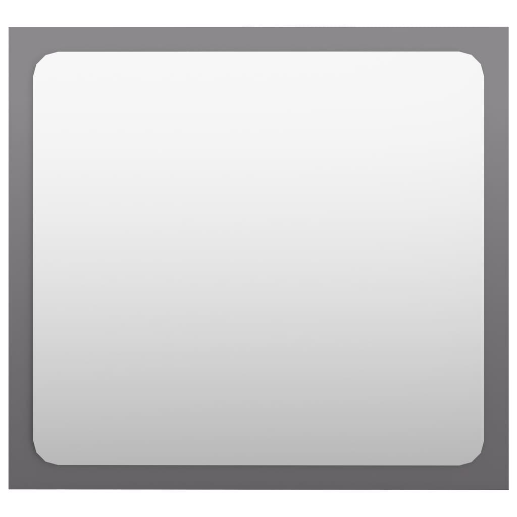 vidaXL Badkamerspiegel 40x1,5x37 cm spaanplaat hoogglans grijs