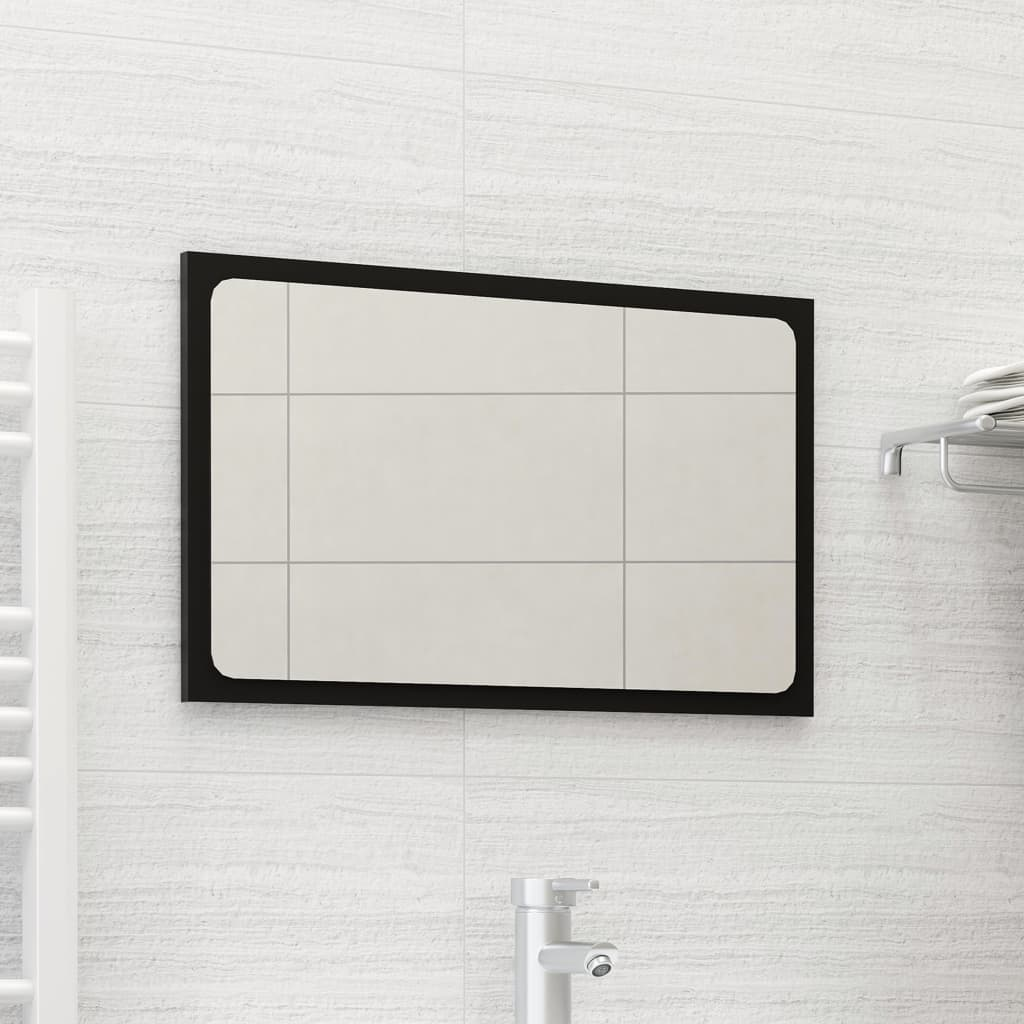Vannitoa peeglikapp, must, 60 x 1,5 x 37 cm, puitl..