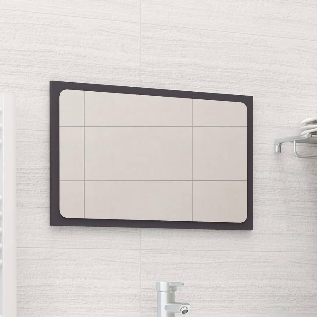 Koupelnové zrcadlo šedé 60 x 1,5 x 37 cm dřevotříska