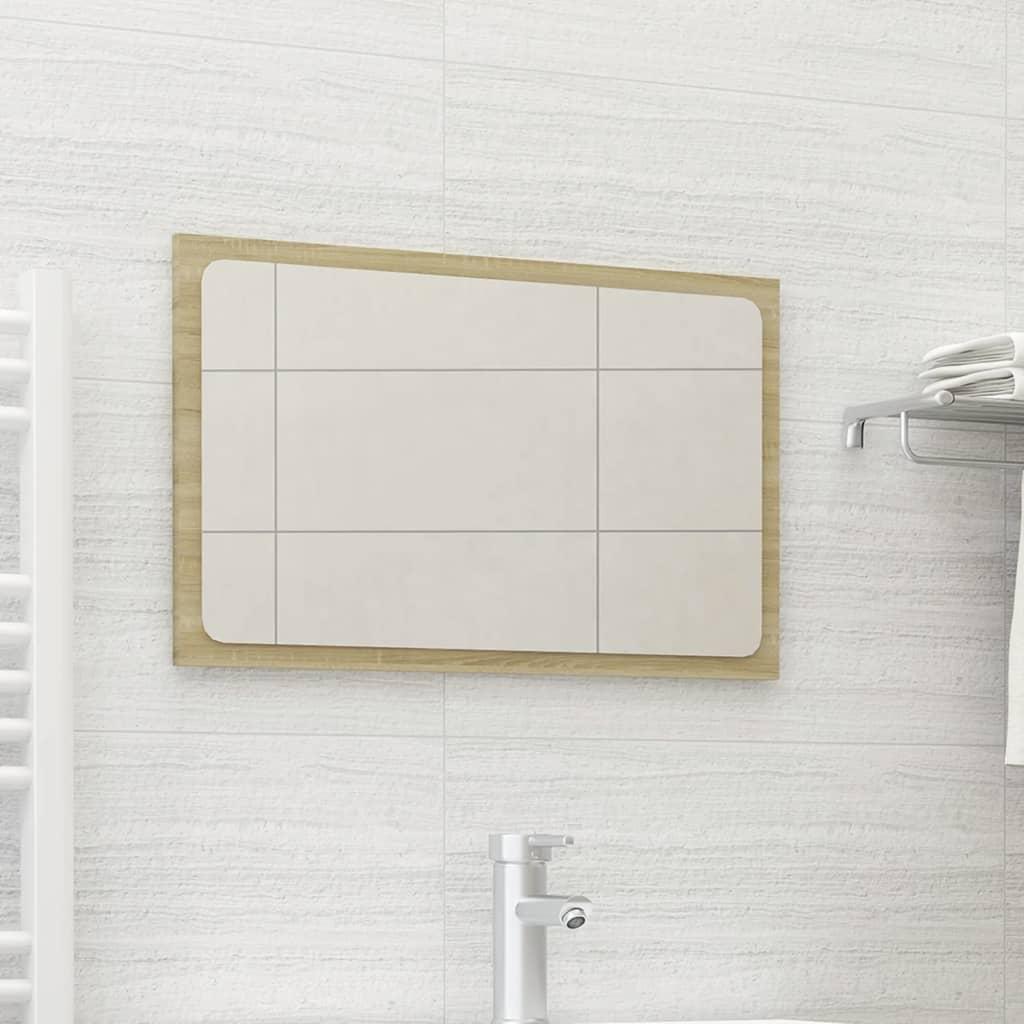 Koupelnové zrcadlo dub sonoma 60 x 1,5 x 37 cm dřevotříska