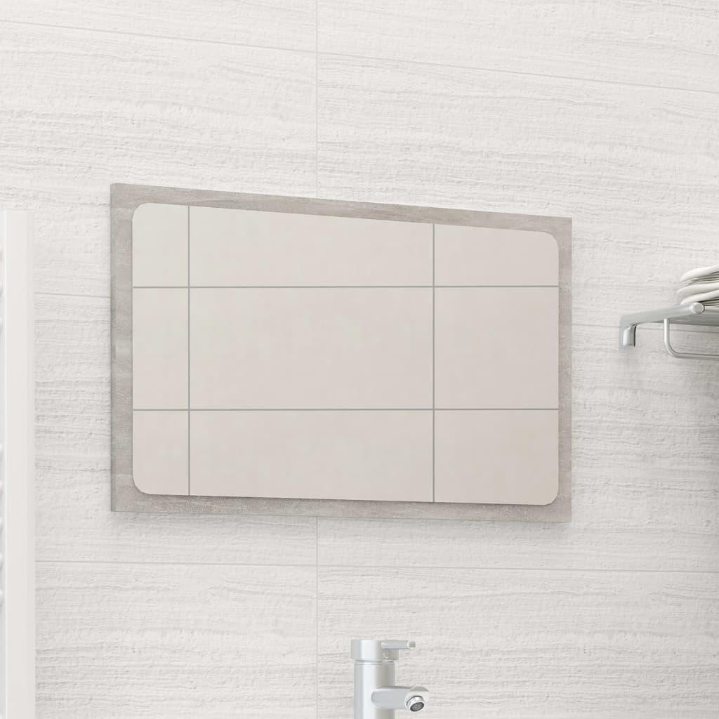 Koupelnové zrcadlo betonově šedé 60 x 1,5 x 37 cm dřevotříska