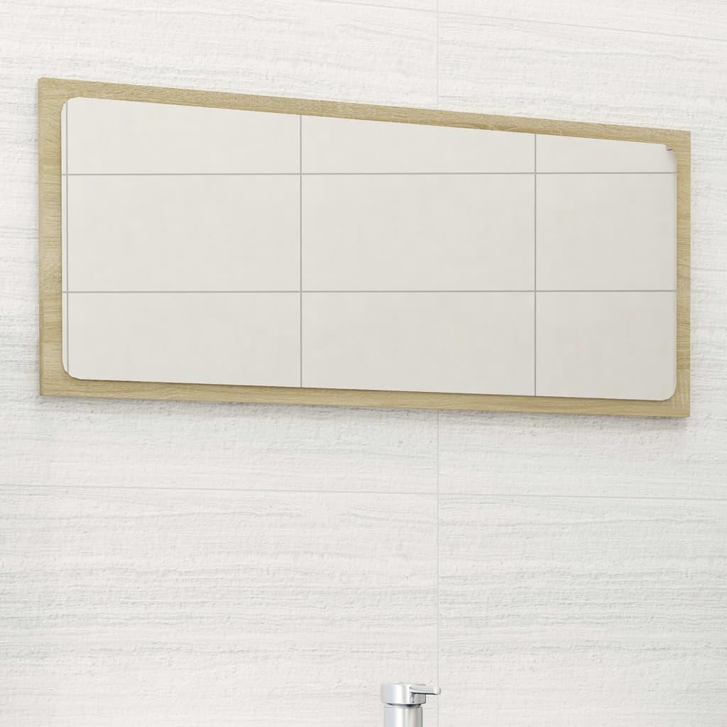Koupelnové zrcadlo dub sonoma 80 x 1,5 x 37 cm dřevotříska