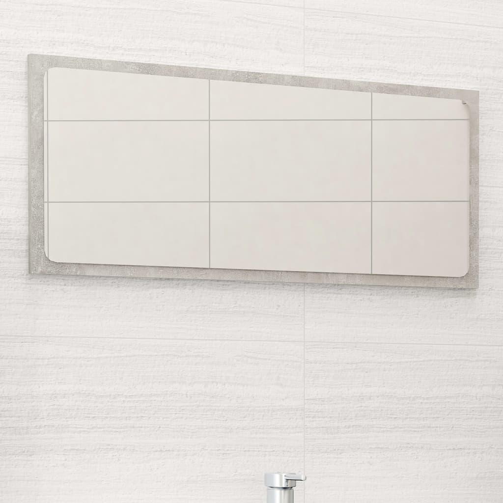 Koupelnové zrcadlo betonově šedé 80 x 1,5 x 37 cm dřevotříska