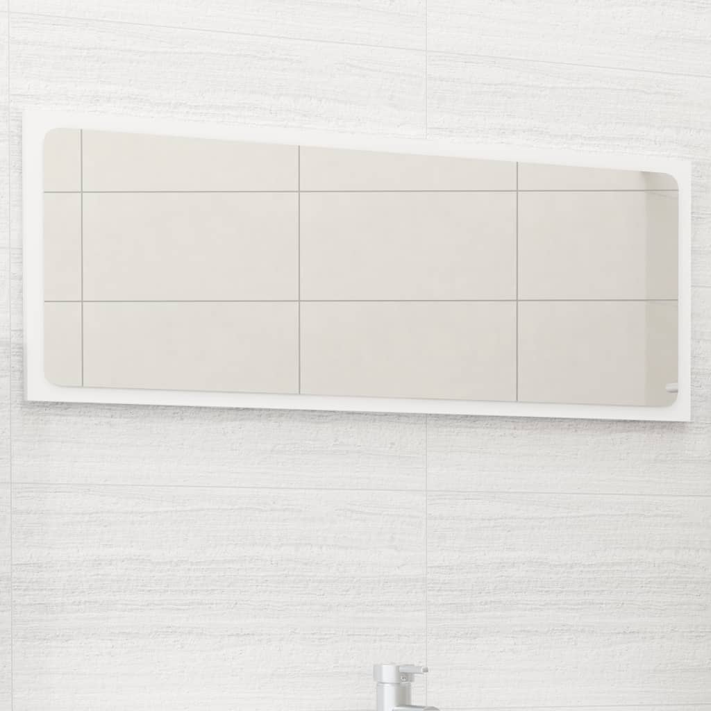 Koupelnové zrcadlo bílé 90 x 1,5 x 37 cm dřevotříska