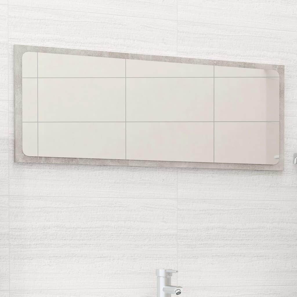 Koupelnové zrcadlo betonově šedé 90 x 1,5 x 37 cm dřevotříska
