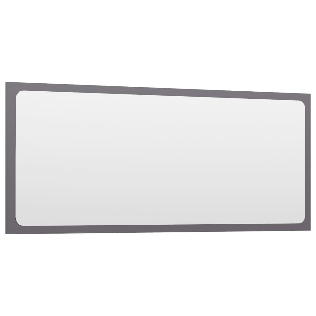 vidaXL Badkamerspiegel 90x1,5x37 cm spaanplaat hoogglans grijs