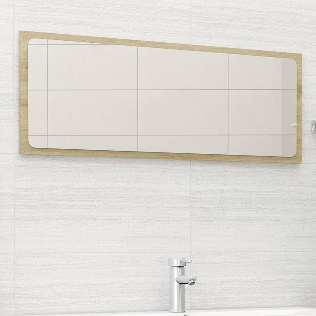 vidaXL Badkamerspiegel 100x1,5x37 cm spaanplaat sonoma eikenkleurig