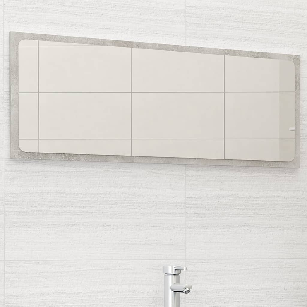 Koupelnové zrcadlo betonově šedé 100 x 1,5 x 37 cm dřevotříska