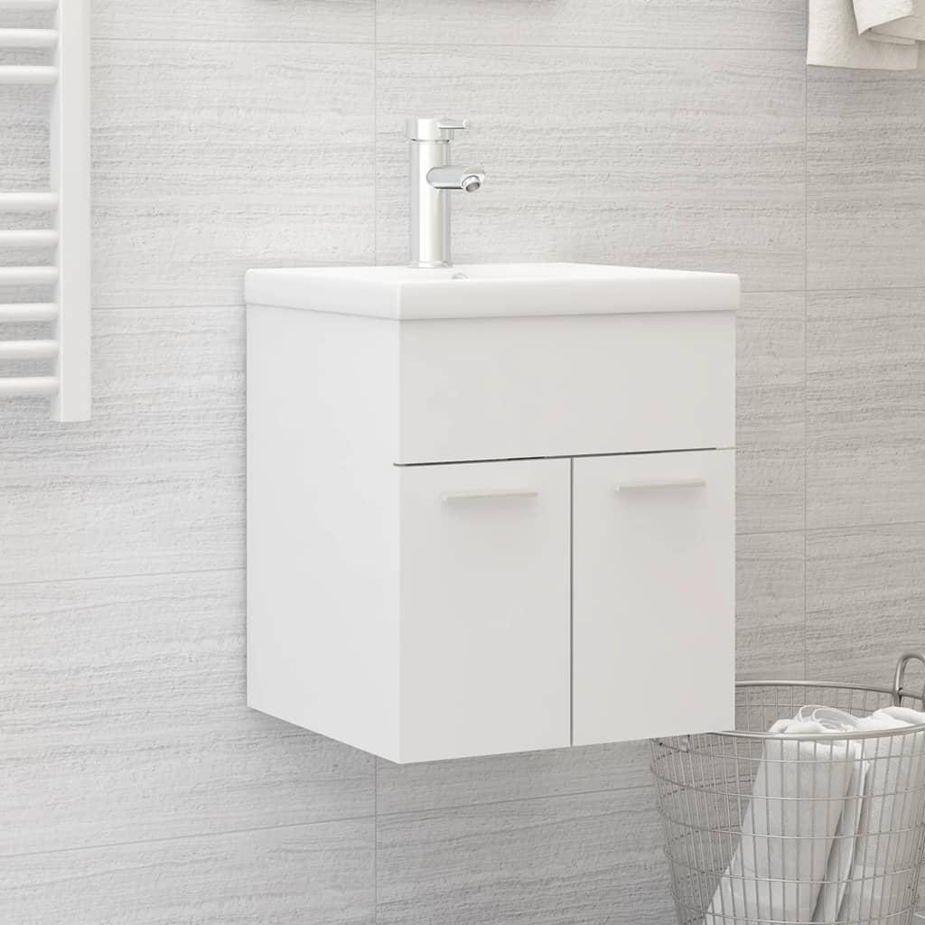 Skříňka pod umyvadlo bílá 41 x 38,5 x 46 cm dřevotříska