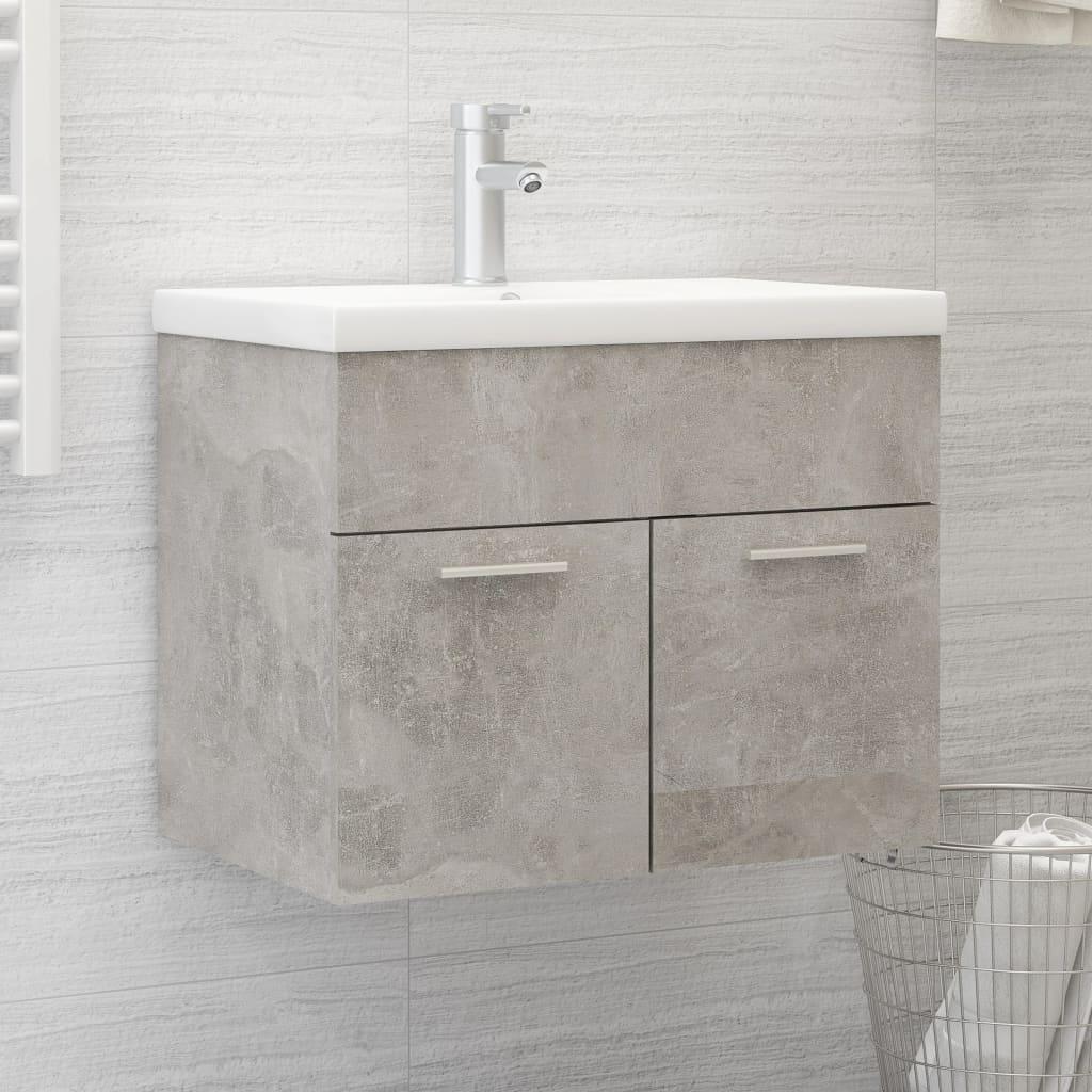 Skříňka pod umyvadlo betonově šedá 60x38,5x46 cm dřevotříska