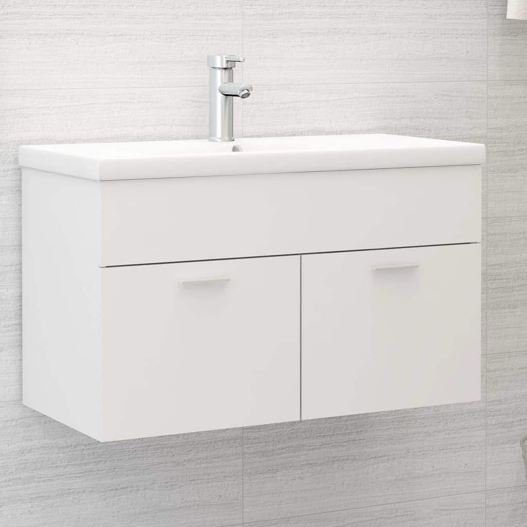Skříňka pod umyvadlo bílá 80 x 38,5 x 46 cm dřevotříska