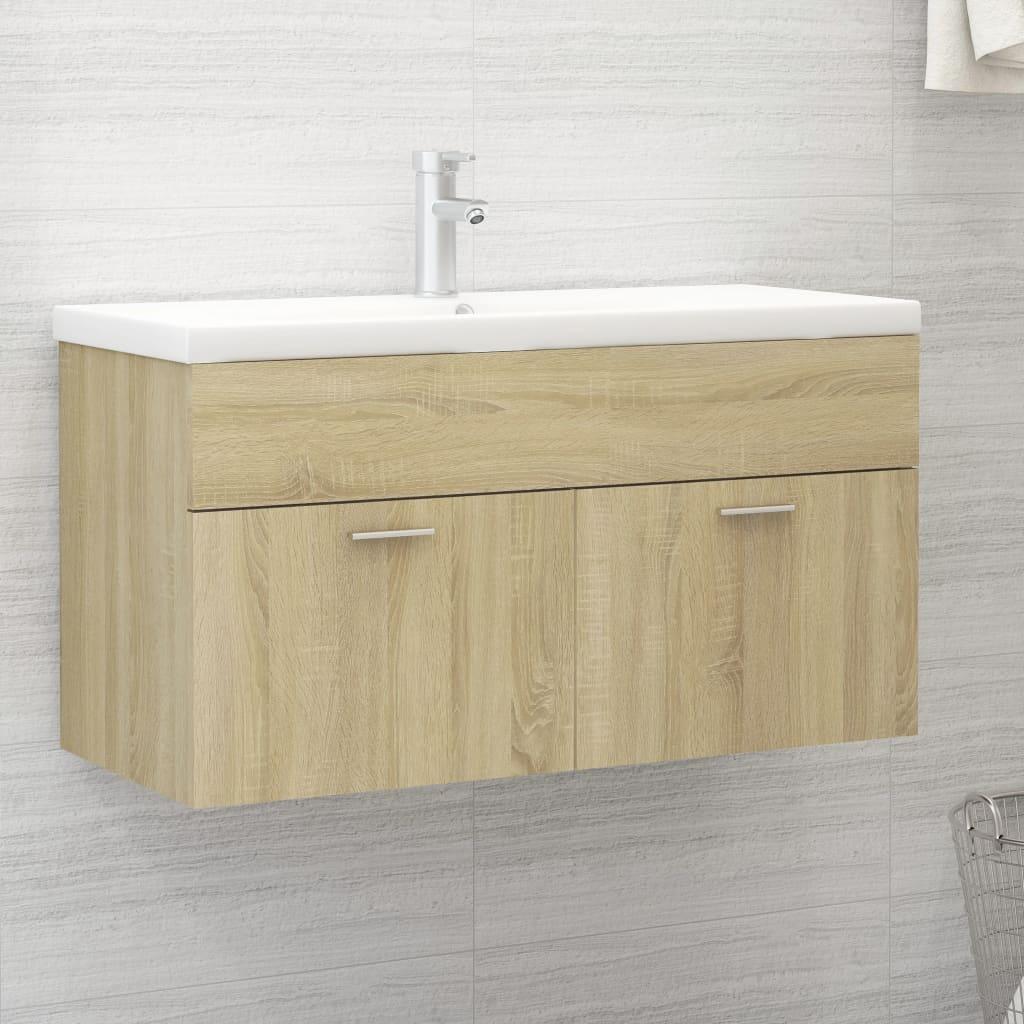Skříňka pod umyvadlo dub sonoma 90 x 38,5 x 46 cm dřevotříska