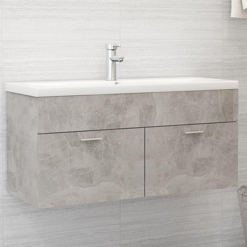 Skříňka pod umyvadlo betonově šedá 100x38,5x46 cm dřevotříska
