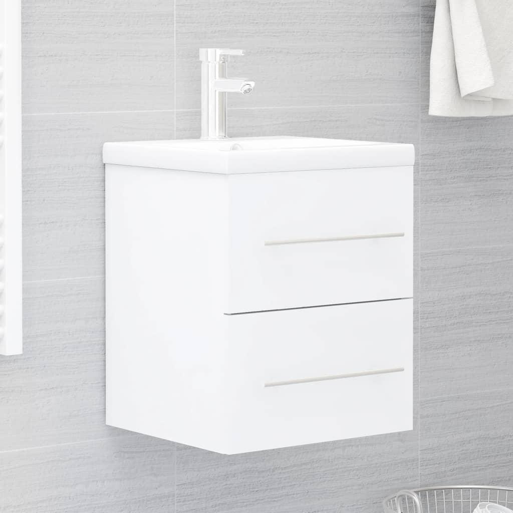 Skříňka pod umyvadlo bílá 41 x 38,5 x 48 cm dřevotříska