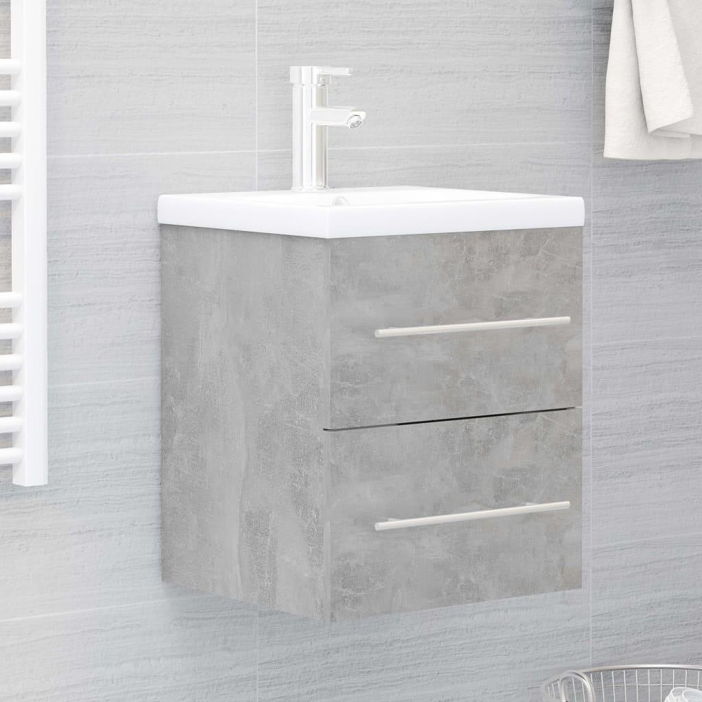 Skříňka pod umyvadlo betonově šedá 41x38,5x48 cm dřevotříska