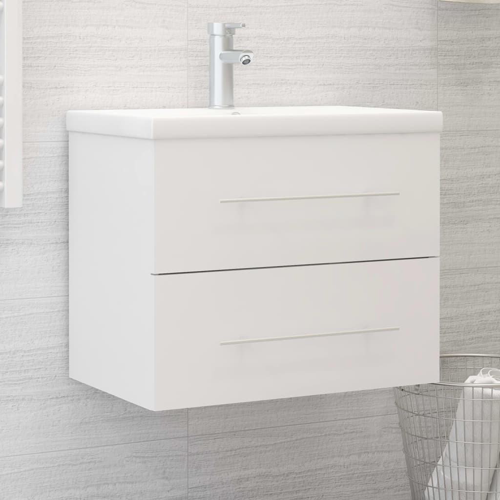Skříňka pod umyvadlo bílá 60 x 38,5 x 48 cm dřevotříska