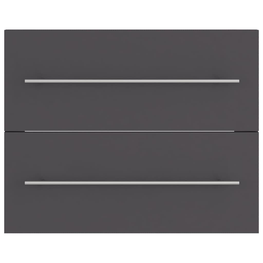 vidaXL Wastafelkast 60x38,5x48 cm spaanplaat grijs