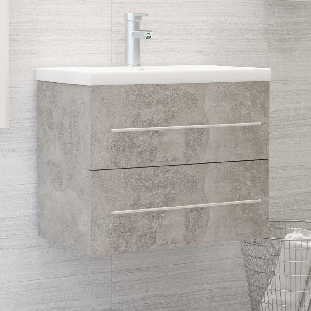 Skříňka pod umyvadlo betonově šedá 60x38,5x48 cm dřevotříska