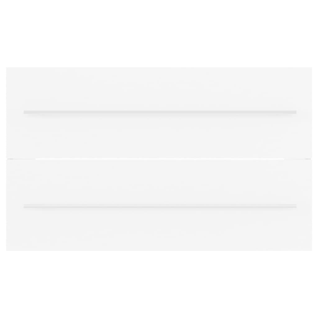 vidaXL Wastafelkast 80x38,5x48 cm spaanplaat wit