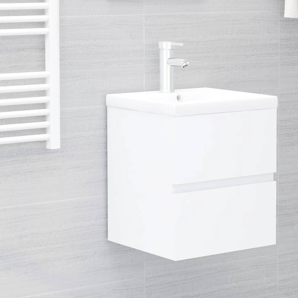 Skříňka pod umyvadlo bílá 41 x 38,5 x 45 cm dřevotříska