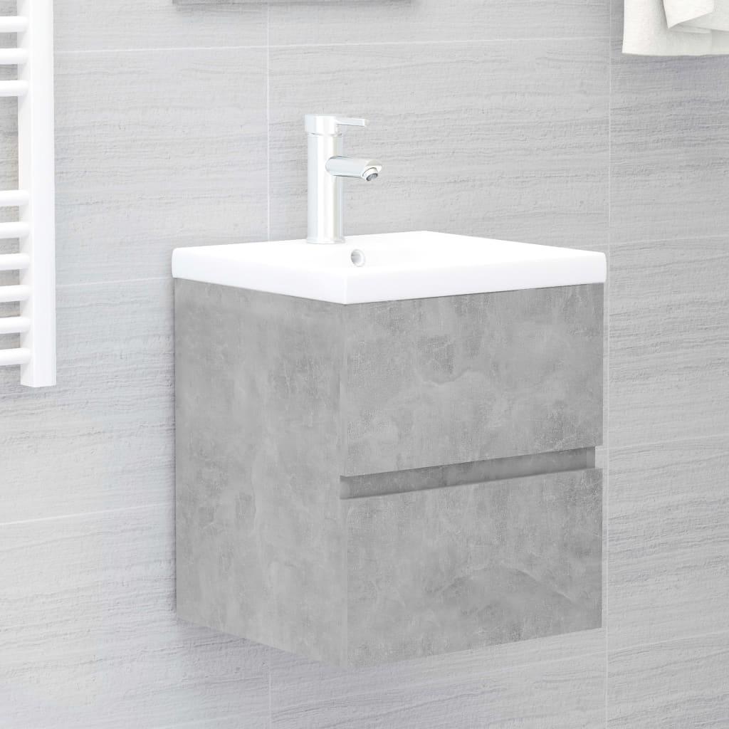Skříňka pod umyvadlo betonově šedá 41x38,5x45 cm dřevotříska