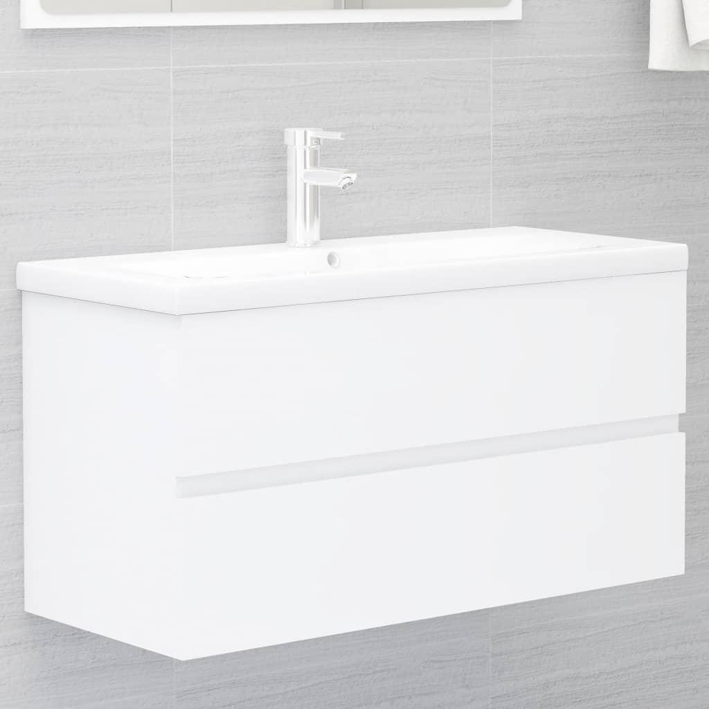 Skříňka pod umyvadlo bílá 90 x 38,5 x 45 cm dřevotříska