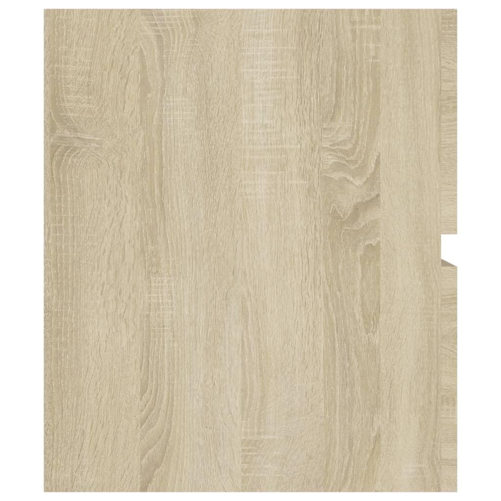 vidaXL Wastafelkast 90x38,5x45 cm spaanplaat sonoma eikenkleurig