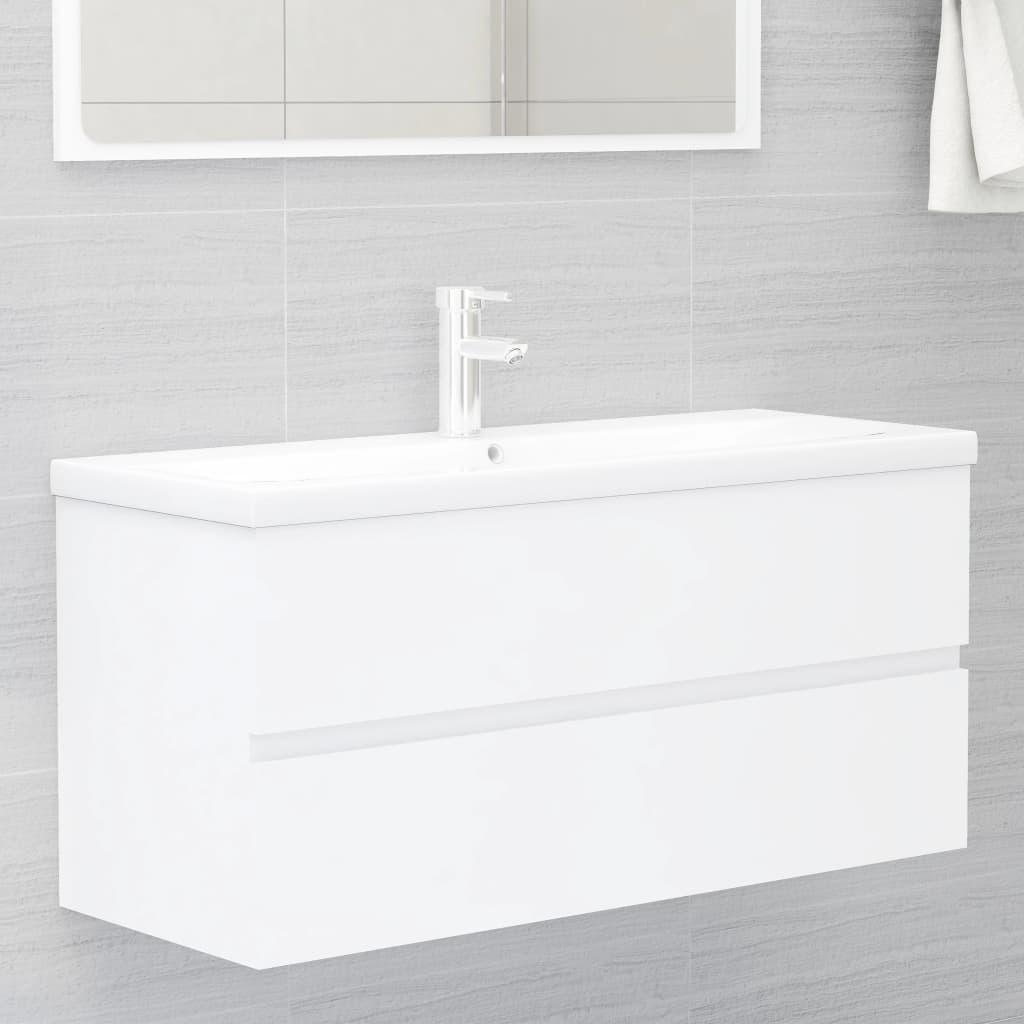 Skříňka pod umyvadlo bílá 100 x 38,5 x 45 cm dřevotříska