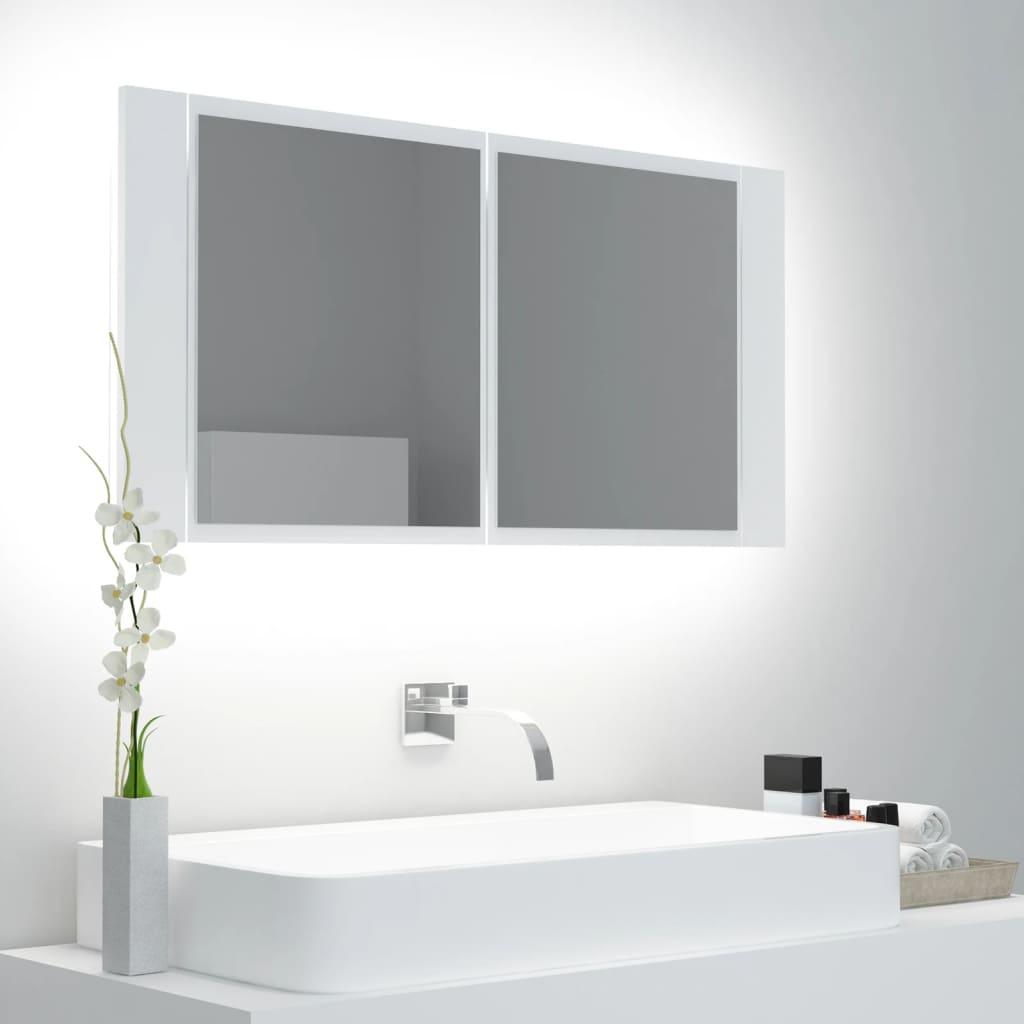 LED-peeglikapp, valge, 90 x ..