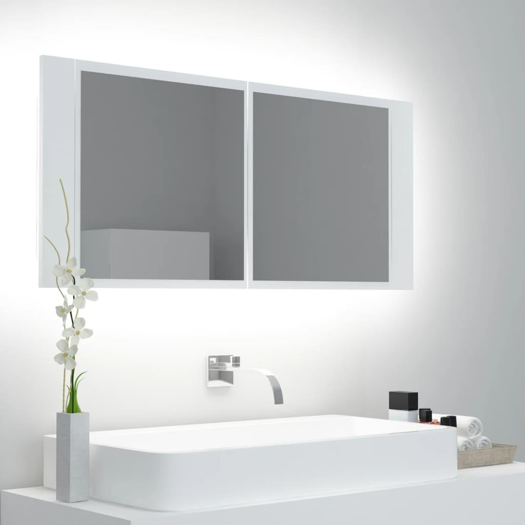 LED-peeglikapp valge 100x12x..